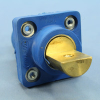 Leviton Blue ECT 16 Series Single Pole Cam Receptacle Half Round Terminal Male Panel Outlet Continuous 400A 600V 16R19-B