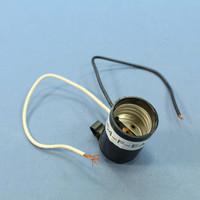 Leviton Phenolic Lamp Holder Light Socket Hickey E26 Medium Base Capped 660W 250V 2054-F