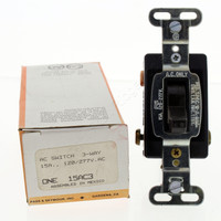 Pass & Seymour Brown 3-Way INDUSTRIAL Grade Toggle Wall Light Switch 15A 120/277V 15AC3