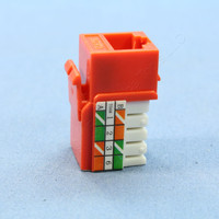 Cooper Orange RJ45 Cat6 Snap-In Modular Jack 110 Style 8-Position 650 MHz 5546-6O