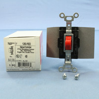 Pass & Seymour Red Manual Motor Controller Switch Momemtary Contact SPDT Single Pole Double Throw 15A 1250-RED