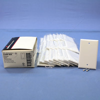 25 Cooper White Thermoset Standard 1-Gang Blank Cover Box Mounted Wallplates 2129W