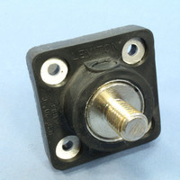 "Leviton Black 16 Series Tour Grade Female Cam Receptacle Panel Outlet 3/4"" Stud Plug Nickel Plated Contact 400A 16R24-TE"