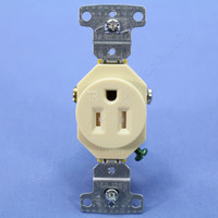 Hubbell tradeSELECT® Ivory Tamper Resistant Residential Straight Blade Single Outlet Receptacle NEMA 5-15R 15A RR151ITR