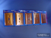 5 Leviton JUMBO Copper Switch Covers Oversize Toggle Wallplates 89301-COP