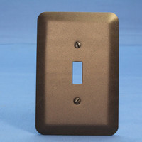 Leviton JUMBO Metallic Bronze Switch Cover Oversize Toggle Wallplate Switchplate 89301-MBR
