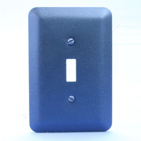 Leviton 1G JUMBO Metallic Blue Switch Cover Oversize Toggle Wall Plate 89301-MBL
