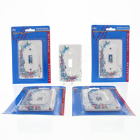 5 Leviton Butterfly Porcelain Switch Covers Wall Plate Switchplates 89501-FLY