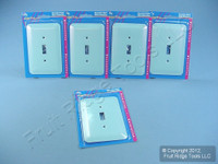 5 Leviton JUMBO 1-Gang Blue Switch Cover Metal Wallplates Switchplates 89301-BLU