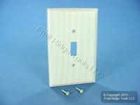 Leviton Whitewashed Wood Toggle Switch Cover 1G Wallplate Switchplate 89201-WWP