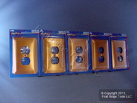 5 Leviton JUMBO Copper Outlet Covers Oversize Receptacle Wallplates 89303-COP