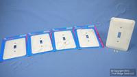 5 Leviton JUMBO Ivory Marble Switch Cover Oversize Toggle Wall Plate Switchplates 89301-IML