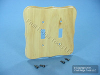 Leviton PINE 2-Gang Toggle Switch Cover Wallplate Switchplate 89209-CVP