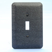 Leviton JUMBO Black Granite Switch Cover Oversize Toggle Wall Plate Switchplate 89301-GBL