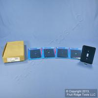 5 Leviton JUMBO Blue Leopard Print Switch Covers Oversize Toggle Wall Plates 89301-BLL