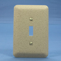 New Leviton Brown Granite 1-Gang Jumbo Cover Toggle Switch Wall Plate 89301-BG