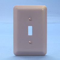 New Leviton JUMBO Pink 1-Gang Toggle Metal Cover Wallplate Switchplate 89301-PNK