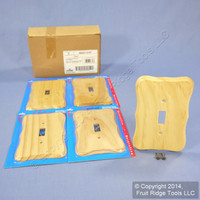 5 Leviton Solid Pine 1-Gang Toggle Switch Cover Wallplate Switchplates 89201-CVP