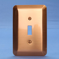 Leviton JUMBO Copper Switch Cover Oversize Toggle Wallplate Switchplate 89301-COP