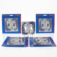 5 Leviton Butterfly Pattern 2-Gang Porcelain Switch Covers Toggle Wall Plate 89509-FLY