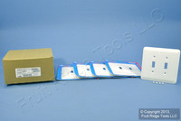 5 Leviton 2-Gang JUMBO White Switch Cover Oversize Toggle Wall Plates 89309-WH