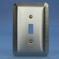Leviton JUMBO Satin Chrome Switch Cover Oversize Toggle Wallplate Switchplate 89301-SSS