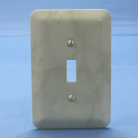 Leviton JUMBO Ivory Marble Switch Cover Oversize Toggle Wall Plate Switchplate 89301-IML