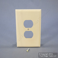Leviton White Wash Wood Receptacle Wallplate Duplex Outlet Cover 89203-WWP