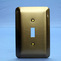 Leviton JUMBO Antique Brass Switch Cover Oversize Toggle Wall Plate 89301-ATB