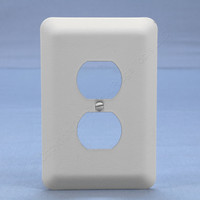 Leviton JUMBO White Outlet Cover Oversize Duplex Receptacle Wallplate 89303-WH