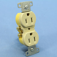 Hubbell Ivory TAMPER RESISTANT Residential Grade Straight Blade Duplex Receptacle Outlet NEMA 5-15 15A 125V RR15SITR
