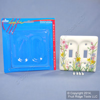 Leviton Wildflower Pattern 2-Gang Ceramic Switch Cover Toggle Wallplate 89509-WFL