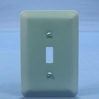 Leviton 1-Gang JUMBO Blue Switch Metal Cover Wall Plate Switchplate 89301-BLU