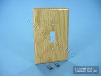 Leviton OAK Finished Wood Toggle Switch Cover Wallplate Switchplate 89201-OAK