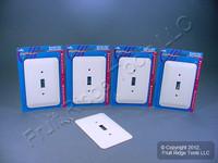 5 Leviton JUMBO White Switch Covers Oversize Toggle Wallplate Switchplates 89301-WH
