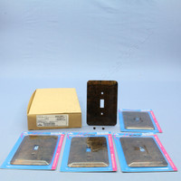 5 Leviton JUMBO Antique Bronze Switch Covers Oversize Toggle Wall Plates 89301-BBR