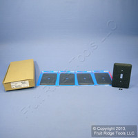 5 Leviton JUMBO Black Granite Switch Cover Oversize Toggle Wall Plate Switchplates 89301-GBL