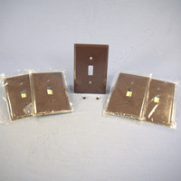 5 Eagle Brown Thermoset Mid-Size 1-Gang Toggle Switch Cover Wallplate Switchplates 2034B