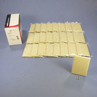 25 Cooper Ivory Standard Grade Thermoset 1-Gang Mid-Size Blank Wallplate Covers 2029V