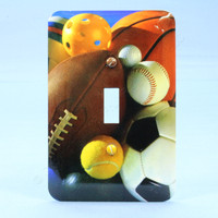 Football Baseball Sport Athlete Theme 1-Gang Wallplate Switch Cover 89001-SPT