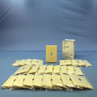 25 Eagle Ivory Mid-Size Flush 1Gang Toggle Switch Plastic Cover Wallplates 2034V