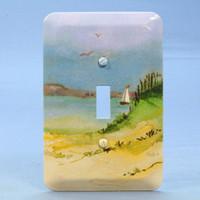 New Leviton Seashore 1-Gang Toggle Switch Cover Switchplate Wallplate 89001-SEA