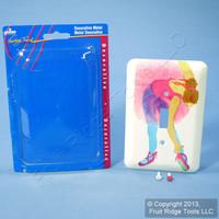 Leviton Decorative Ballerina Wallplate Switch Metal Cover Switchplate 89001-BAL