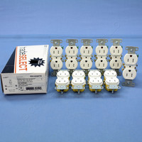 10 Hubbell White TAMPER RESISTANT Residential Grade Straight Blade Duplex Receptacle Outlets NEMA 5-15 15A 125V RR15SWTR