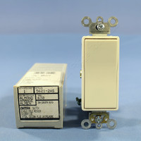 New Leviton Almond COMMERCIAL Decora Rocker Wall Light Quiet Switch 20A 5621-2A