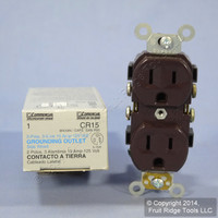 New Leviton Brown COMMERCIAL Outlet Duplex Receptacle 5-15R 15A 125V CR15 Boxed