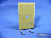 "New Leviton Ivory Phone Cable Wallplate Telephone Plastic Cover .406"" Hole 86013"