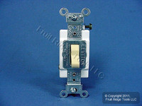 Leviton Ivory 3-Way COMMERCIAL Quiet Toggle Wall Light Switch 20A Bulk CSB3-20I