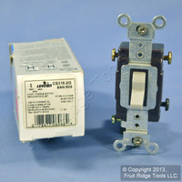 New Leviton Gray 3-Way COMMERCIAL Toggle Wall Light Switch 15A CS315-2GY Boxed