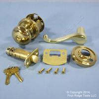3 RIGHT Weslock Traditonale Impresa 640 Polished Brass Keylock Knob Calais Latch